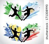 soccer players representing... | Shutterstock .eps vector #171308990