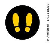 round floor marking stand here... | Shutterstock .eps vector #1713118393