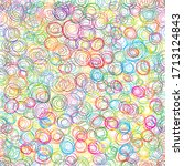 colorful seamless vector... | Shutterstock .eps vector #1713124843