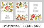 set of flyers  posters  banners ... | Shutterstock .eps vector #1713134320