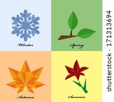 four seasons icon symbol in... | Shutterstock .eps vector #171313694