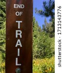 Photo Of An End Of Trail Sign...