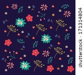 nice spring ethnic pattern with ...   Shutterstock .eps vector #171314804