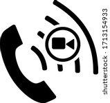 video call icon silhouette...