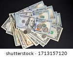 Banknotes Us Dollars With...