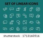 simple set of message line...   Shutterstock .eps vector #1713160516