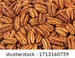 Pecan Nuts As A Background