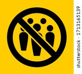 social distancing avoid crowds... | Shutterstock .eps vector #1713165139
