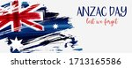 anzac day background with... | Shutterstock .eps vector #1713165586