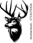 buck deer logo  awesome  ... | Shutterstock .eps vector #1713170326