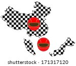 racing flag maps 2 china... | Shutterstock .eps vector #171317120