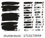 flat paint brush thin lines  ... | Shutterstock .eps vector #1713173959