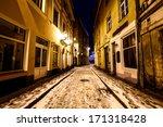 night street of old riga ... | Shutterstock . vector #171318428