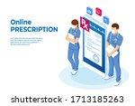 isometric online medical advise ... | Shutterstock .eps vector #1713185263