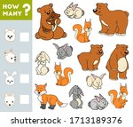 counting game for preschool... | Shutterstock .eps vector #1713189376