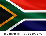 South Africa Flag With Fabric...
