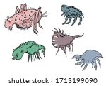 small nasty and creepy monster... | Shutterstock .eps vector #1713199090