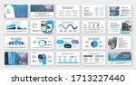 presentation templates elements ...   Shutterstock .eps vector #1713227440