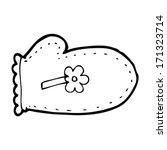 cartoon oven glove | Shutterstock .eps vector #171323714