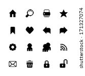 black pixel icons set for...
