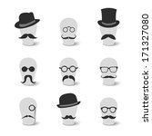 collection of vintage mustaches ...