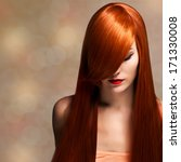 closeup portrait of a beautiful ... | Shutterstock . vector #171330008