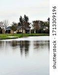 Small photo of Villa Elisa, Entre Rios, Argentina; May 28 2019: Country Houses near the lake in Villa Elisa Elisa, Entre Rios, Argentina.