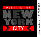 new york city destination... | Shutterstock .eps vector #1713322903