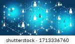 network community.people... | Shutterstock . vector #1713336760