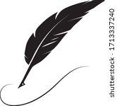quill pen logo stock...   Shutterstock .eps vector #1713337240