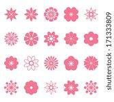 flower vector set for your... | Shutterstock .eps vector #171333809