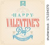 happy valentine's day hand...   Shutterstock .eps vector #171334370