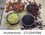 Dried Fruits  Raisins In Bowl...