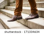 walking downstairs  close up... | Shutterstock . vector #171334634
