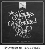 happy valentine's day hand... | Shutterstock .eps vector #171334688