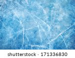 Textured Ice Blue Frozen Rink...