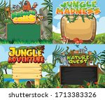 four border templates with...   Shutterstock .eps vector #1713383326