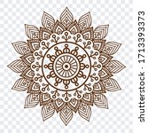 indian ethnic floral mandala... | Shutterstock .eps vector #1713393373