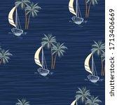 Hand Drawn Summer Sail Boat...
