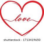 text love inside the heart   Shutterstock .eps vector #1713419650