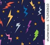 lightning bolts signs seamless... | Shutterstock .eps vector #1713420610