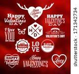 set of typographic valentines... | Shutterstock .eps vector #171342734
