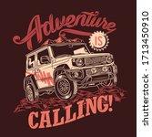 adventure is calling 4x4 off... | Shutterstock .eps vector #1713450910