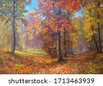 Trees With Bright Colorful...