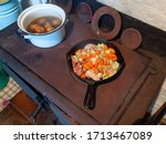 Simple Rural Food Cooked On A...