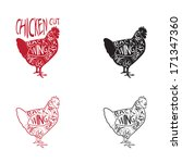 chicken cuts   latino red and...   Shutterstock .eps vector #171347360