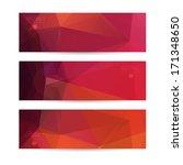 a set of modern vector banners... | Shutterstock .eps vector #171348650