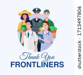 thank you essential workers... | Shutterstock .eps vector #1713497806