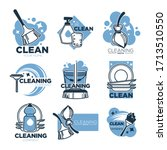 clean service  cleaning tool ... | Shutterstock .eps vector #1713510550