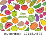 card  flyer with vegetables and ...   Shutterstock .eps vector #1713514576